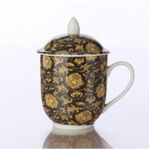 Πορσελάνινη κούπα μαύρη 400ml - House Of Spices Μπαχαρικά