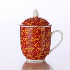 Πορσελάνινη Κούπα Κόκκινη 400ml - House Of Spices Μπαχαρικά